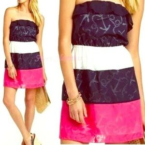 Lilly Pulitzer strapless anchor dress